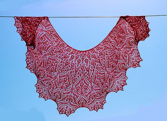 Ravelry Knitting Pattern Central : Ravelry: Soli Deo Gloria Lace Shawl pattern by Anna ...