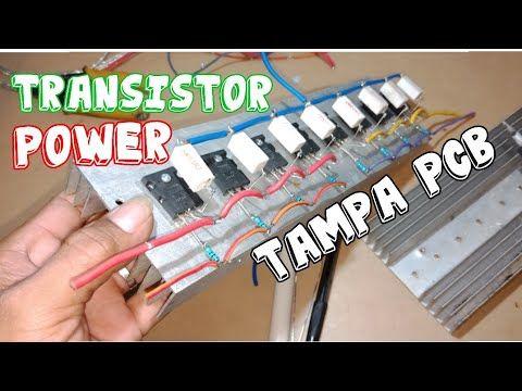 Tutorial Merakit Transistor Final Toshiba Youtube Transistors Power Amplifiers Toshiba