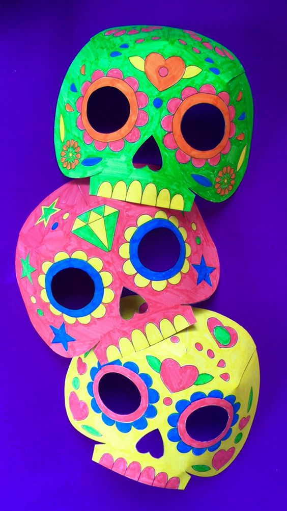 day of the dead skull mask template - day of the dead the dead and mask template on pinterest