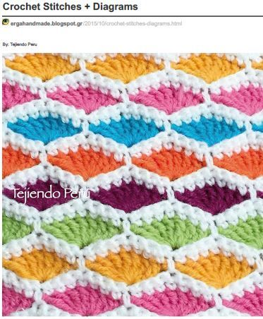 8 different Crochet Stitches  Diagrams (on hard drive)