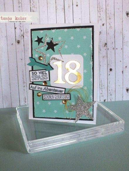 Geburtstagskarte zum 18.