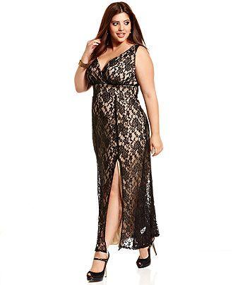 Trixxi Plus Size Dress, Sleeveless Lace Gown - Plus Size Dresses - Plus Sizes - Macy's