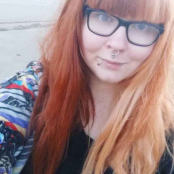 Split wig kind of week. Chocolate Orange from @lush_wigs.  #Wig #WiggyWig #Wigs #WigAddict #WigSocial #LushWigs #LushWigsMe #LushWigsChocolateOrange #Glasses #Piercing #Septum #Medusa #Vegan #Finnish #NerdyGirl #Tuss #TussPuss #SuperTuss #Tussenstein #Fab #Fabulous #Student #Teacher #Koolt #SplitWig #Orange by russintuss