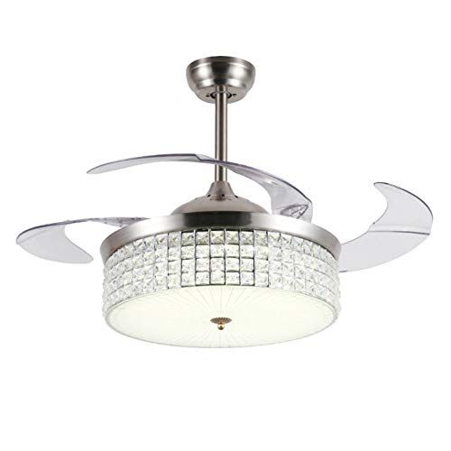 Check Out A Million 42 Modern Ceiling Fan With Lightweight Crystal Led Chandelier Retractable Blades In 2020 Ceiling Fan With Light Led Chandelier Modern Ceiling Fan
