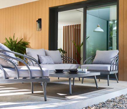 Conjunto De Aluminio Y Poliester Toronto Leroy Merlin Muebles De Exterior Muebles Mesa Exterior