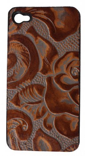 Copper Floral Hard Phone Case from Double J Saddlery
