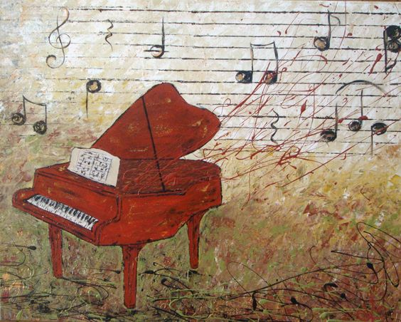 GRANDPA'S TUNES *SOLD* Acrylic on canvas