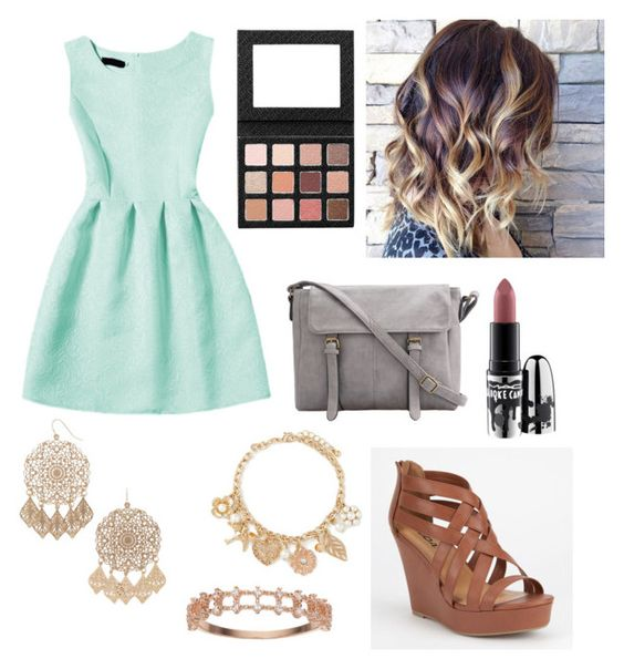"""""""Church Outfit #105"""" by liziekay ❤ liked on Polyvore featuring Forever 21, Soda, LC Lauren Conrad and MAC Cosmetics"""