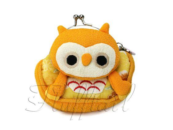 Portemonnaie Eule gelb von ♥ ♥ FLUFFTAIL ♥ ♥ auf DaWanda.com
