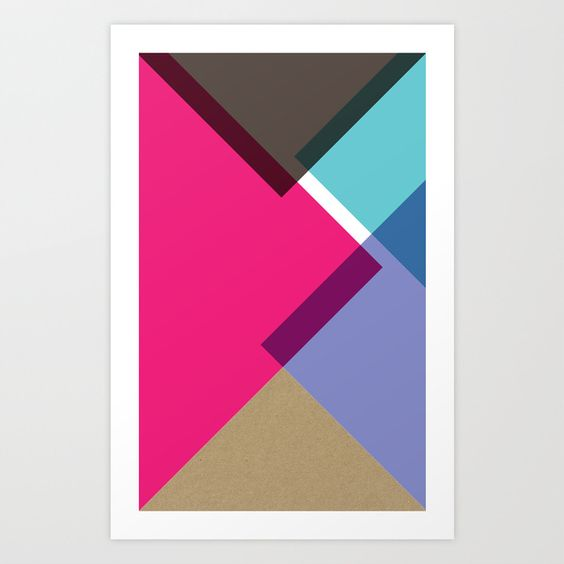 Triangles Art Print by Pencil Me In ™ | Society6