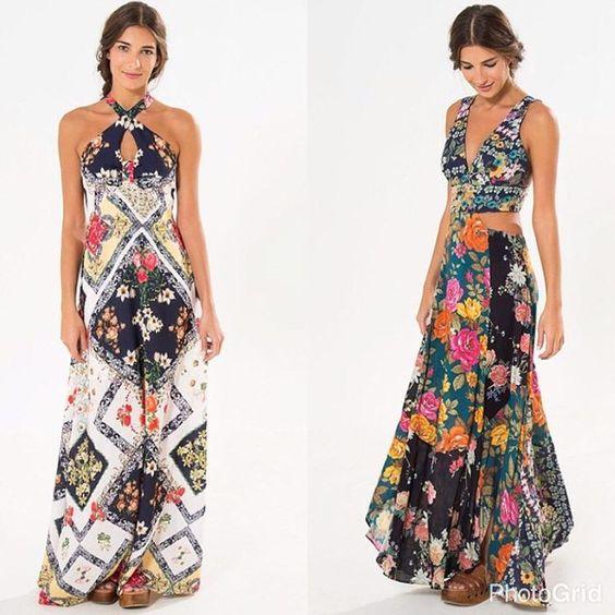 Bazar 🌸 1- Vestido longo lenço Camila M de R$369 por R$184,50 2- Vestido mix floral P de R$498 por R$249 + Frete grátis, usando o código ✨1148✨ no campo vendedora, no final da compra. Parcelamento em até 6x sem juros.