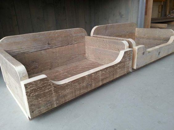 Hondenmand maken van pallets of steigerhout anleitung for Tuintafel maken van steigerhout