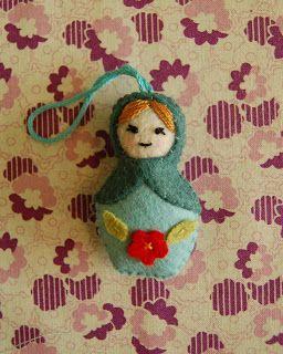 Sew to Speak: April's Mini Matryoshkas ornaments
