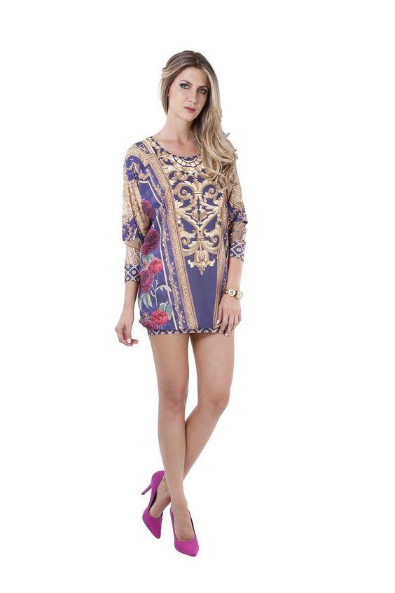 Vestido Fashion Marinho