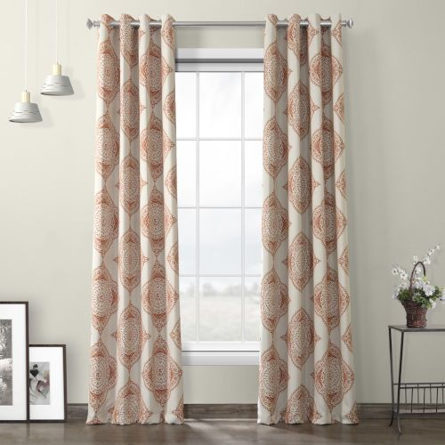 Half Price Drapes Boch Kc27 120 Gr Henna Grommet Blackout Curtain Single Panel Orange Traditional Bellacor Panel Curtains