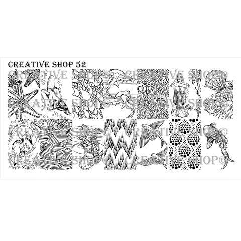 Creative Shop- Stamping Plate- 52