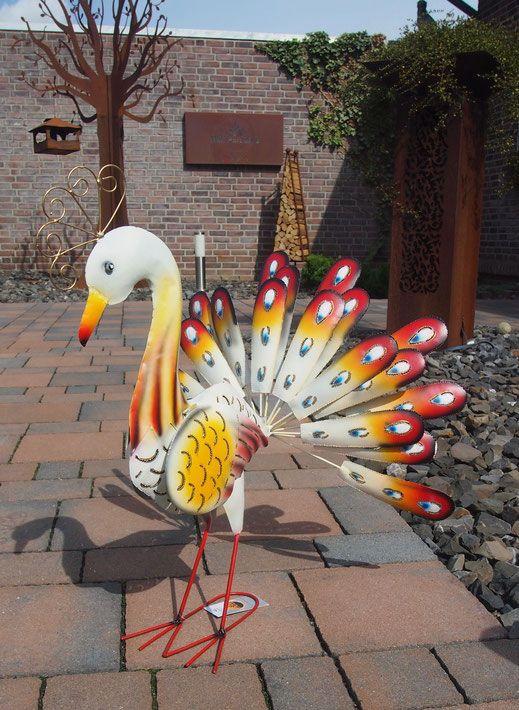 Pfau Aus Metall Tier Skulptur Fur Drinnen Und Draussen Gartendekoration Skulpturen Dekoration