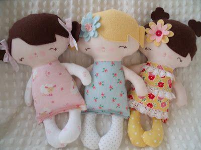 Cute little ruby lou dolls