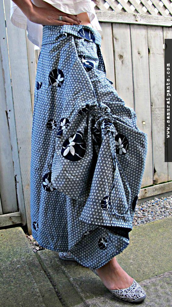 Indigo Dragonfly Wrap Skirt