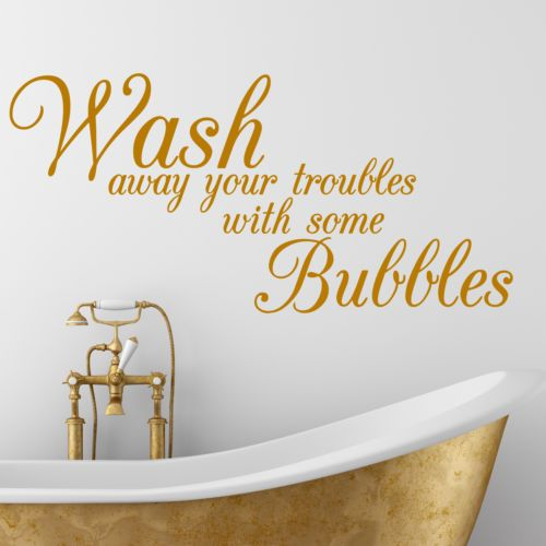 Bathroom Quote Wash Bath Interior Wall Sticker Decal Wallart SS97 | eBay
