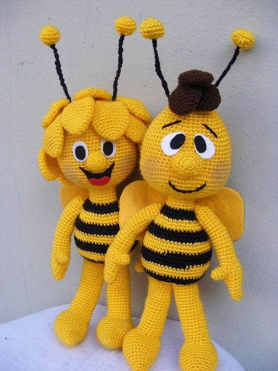 Mickey Amigurumi Bee Bee Tutorial : Maya, Bienen and Hakeln on Pinterest