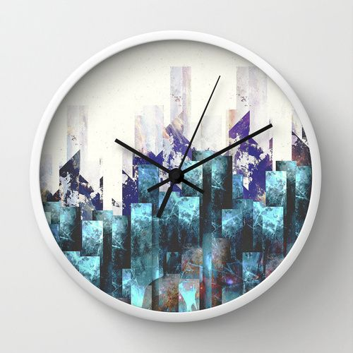 Cold cities Wall Clock by HappyMelvin | Society6