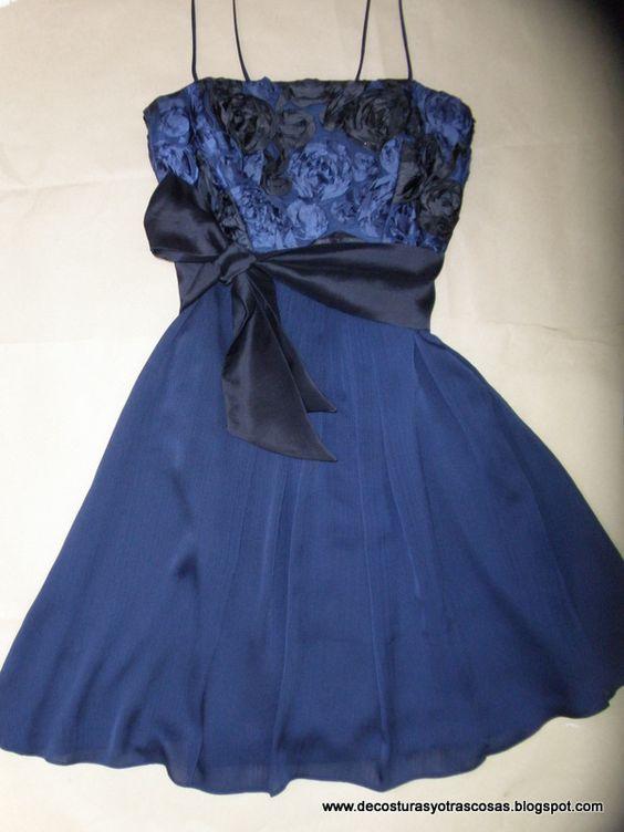 Vestido cóctel azul marino  http://decosturasyotrascosas.blogspot.com.es/