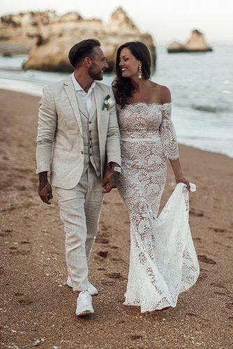 Mens Wedding Attire For Beach Celebration ★  mens wedding attire light jacket with vest selia photography