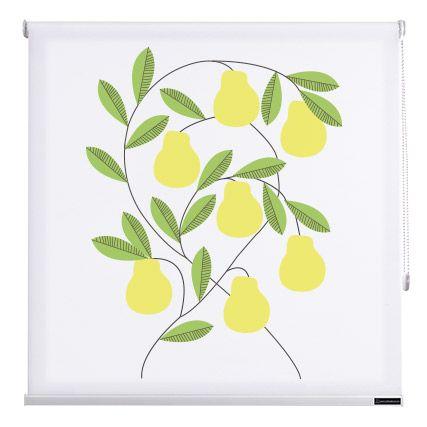 Estores cocina fruits de cortinadecor color peras - Estores de colores ...