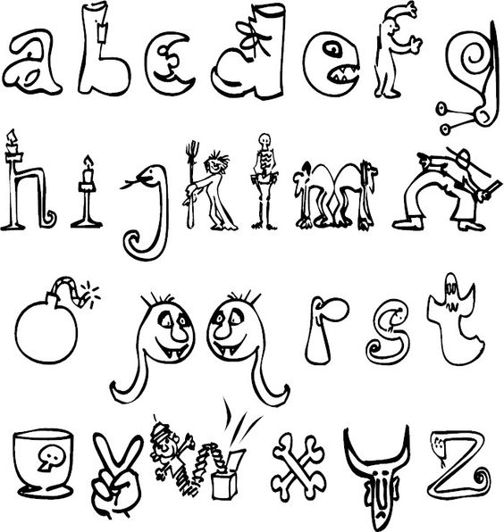 halloween letters coloring pages - photo#12
