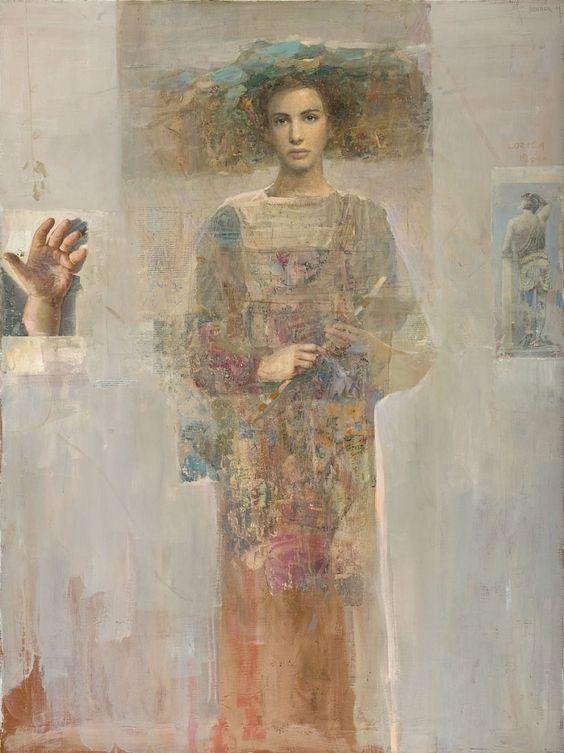 Mersad Berber, Flora with Flowers, 2001 | Albemarle Gallery