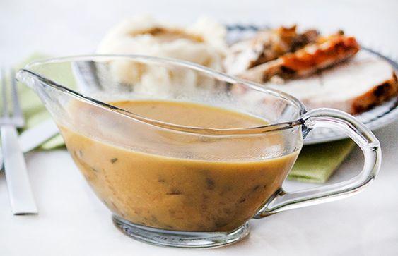 Healthy Mushroom Gravy Recipe - Life by DailyBurn http://dailyburn.com/life/recipes/healthy-mushroom-gravy/