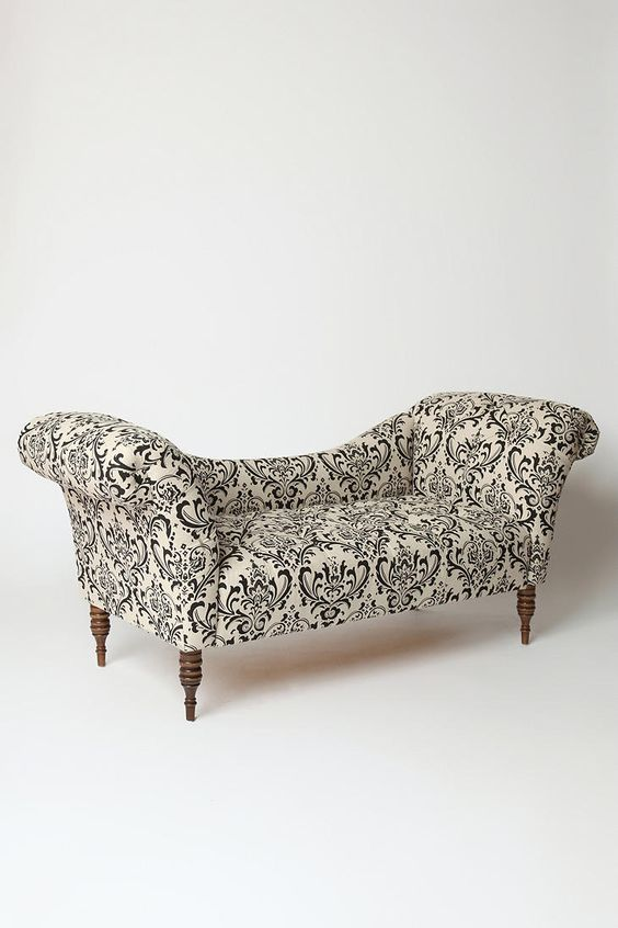 Pinterest the world s catalog of ideas for Black and white damask chaise lounge