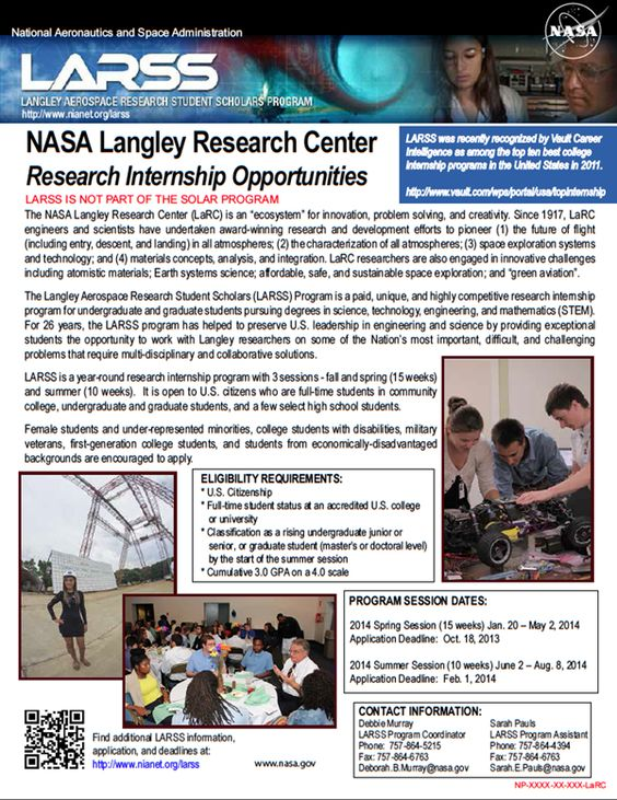 Internships at NASA Langley in Virginia | NASA ...