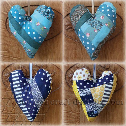 Decorative patchwork hearts