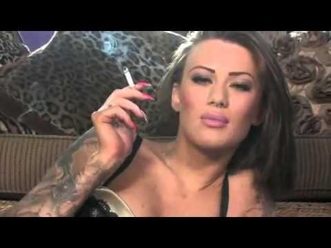 Model Becky Holt smoking