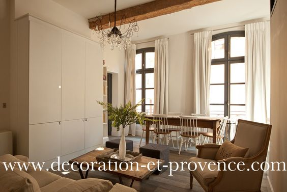 D coration d 39 int rieur s jour contemporain dans un for Decoration interieur appartement