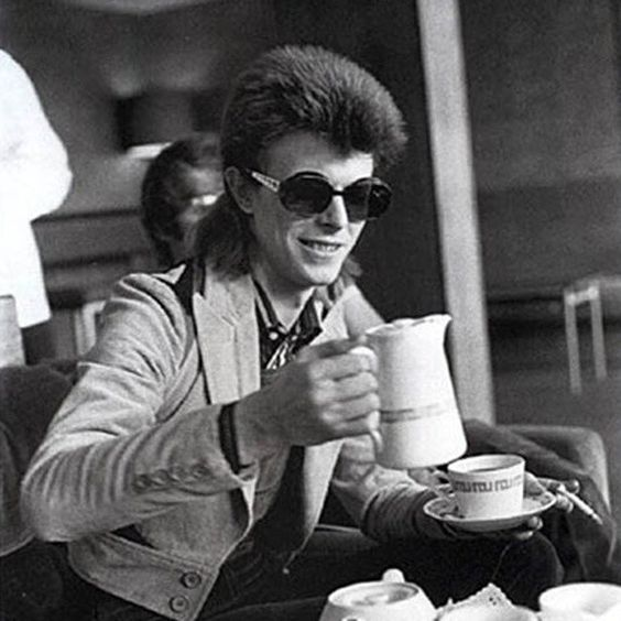 "Ani & Will on Instagram: ""Would you believe that this is David Bowie having a cuppa in his younger years? #tea #tealover #teaculture #David Bowie"""