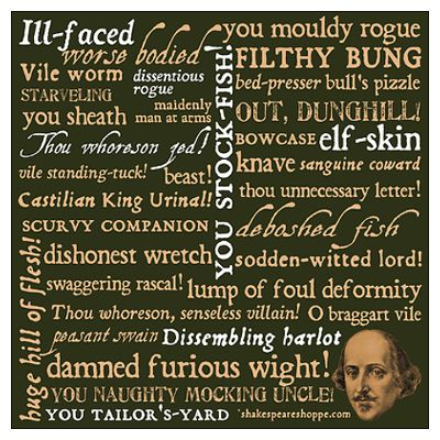 Shakespeare Insults Poster. Fun.