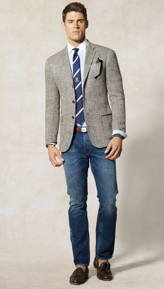casual sport coat with jeans - Google Search | Daily Style for Him