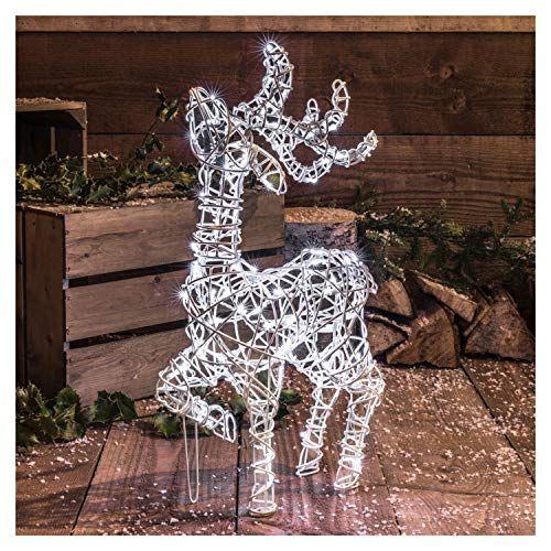 Light Up Reindeer Totally Festive In 2020 Deer Light Outdoor Christmas Reindeer Lights Light Display