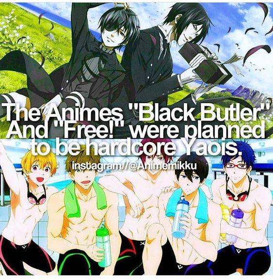 Anime facts Free! And kuroshitsuji