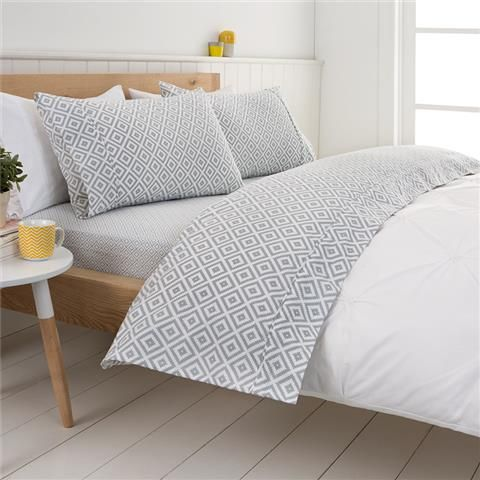 image for print plush queen bed flannelette sheet sets from kmart