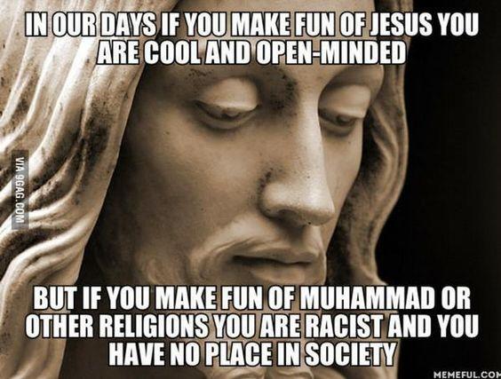 Be cool, mock Jesus! I'd rather mock Mohammed and Moses. Racist, Fascist, Nazi, bigot, dinosaur, scum, misfit! | Veooz 360