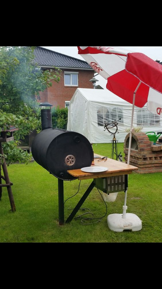 Pin by Randale ralf on Fassgrill ,selbst Pinterest Barbecue - feuertonne selber machen