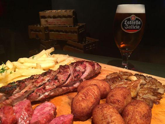 La nueva tabla de La Bottega es ideal para compartir: solomillo de cerdo, chorizo criollo, croquetas de jamón, setas a la plancha y patatas fritas. ¡Para valientes! Si eres usuario de la Marineda City Card tienes un descuento del 10%