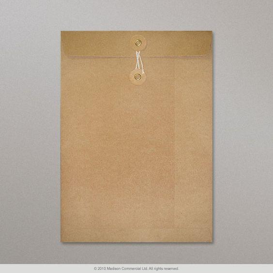 229x162 mm (C5) Enveloppe à rondelle et ficelle manille   SW229   Enveloppes France