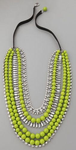 neon lime statement necklace