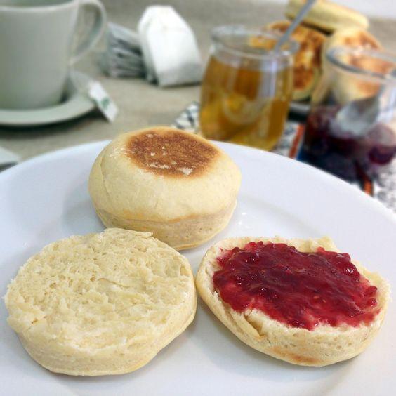 Muffins ingleses Receta en www.quesoyarandanos.com