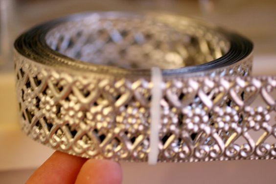 18 Inches Of Metal Trim Bendable Metal Ornate Trim Tin